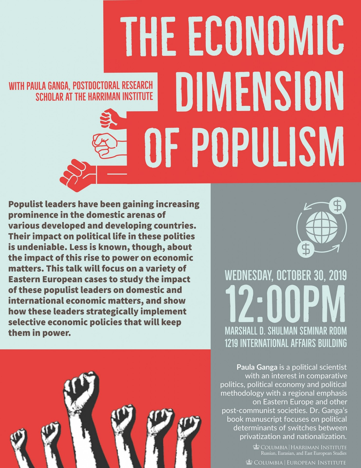 poster for event The Economic Dimension of Populism