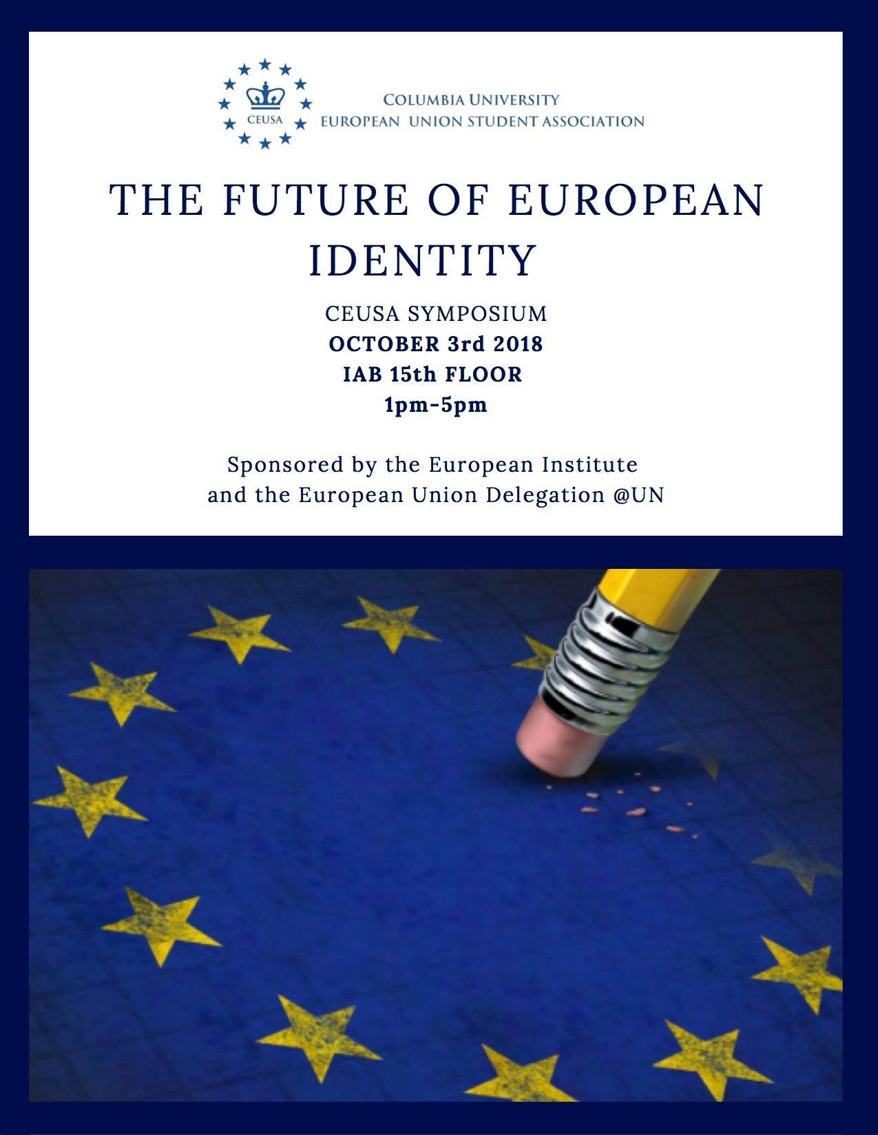 "Poster for event ""The Future of European Identity"""