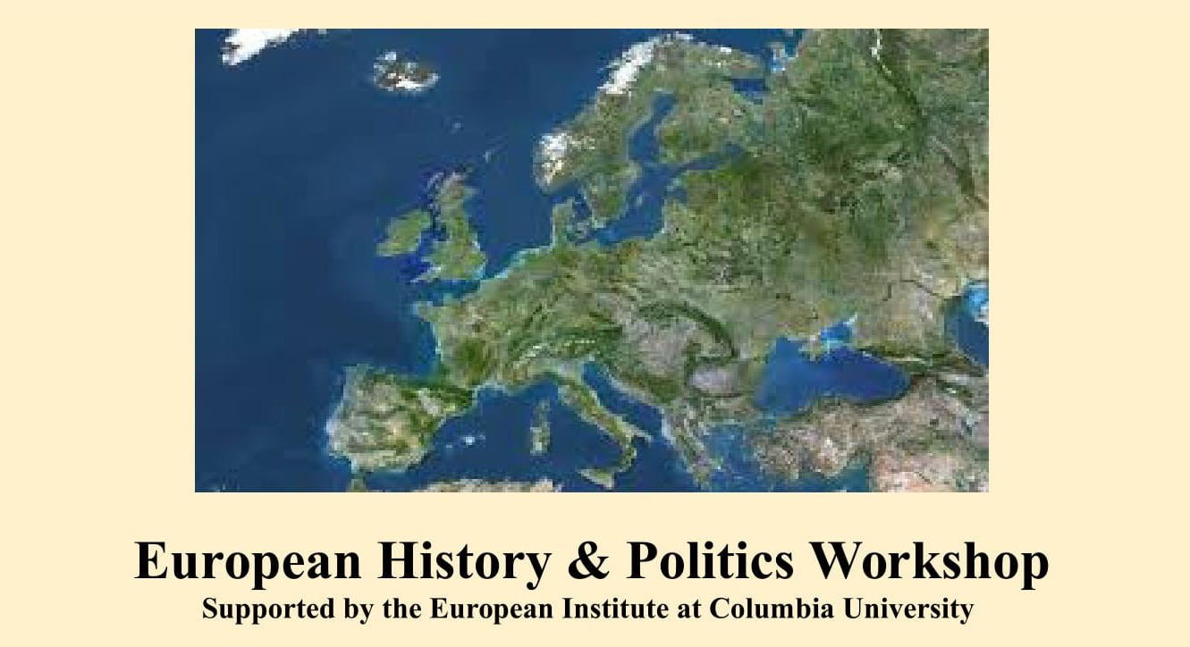 Flyer for the European History and Politics Workshop