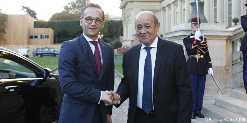 Jean-Yves Le Drian, Minister for Europe and Foreign Affairs of France, and Heiko Maas, Minister for Foreign Affairs of Germany
