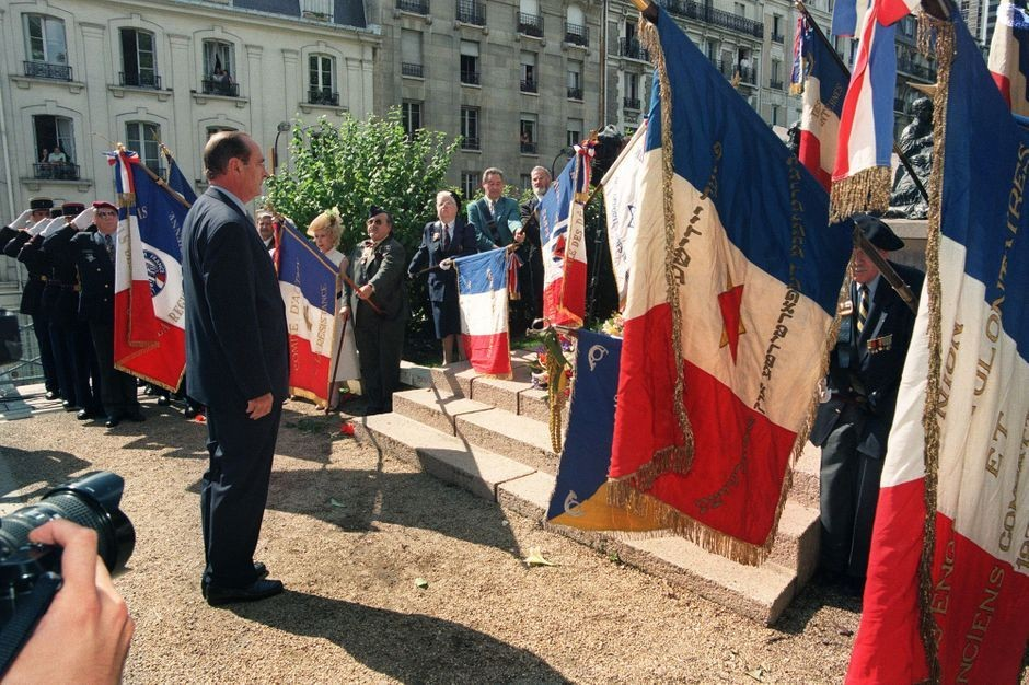 Jacques Chirac on the 16th of July, 1995