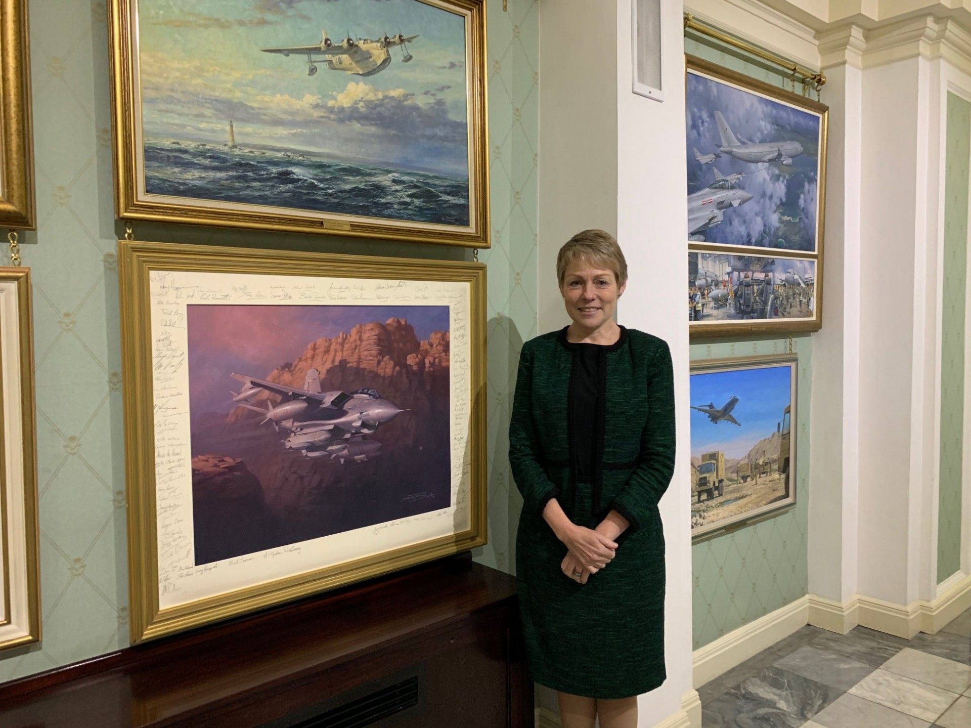 Professor Victoria Phillips at the Royal Air Force Club