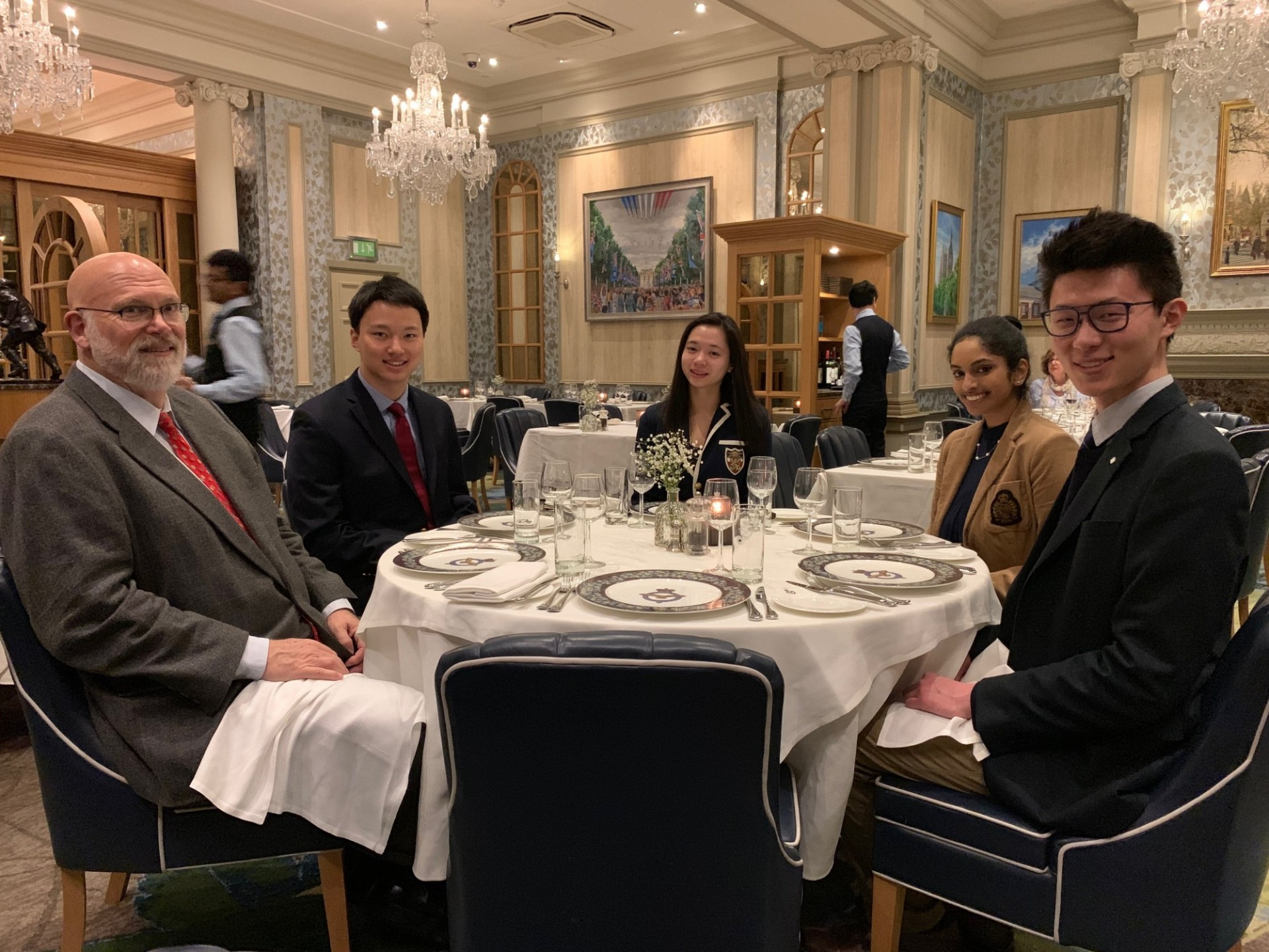CWAR Fellows and Travis Anderson at the Royal Air Force Club