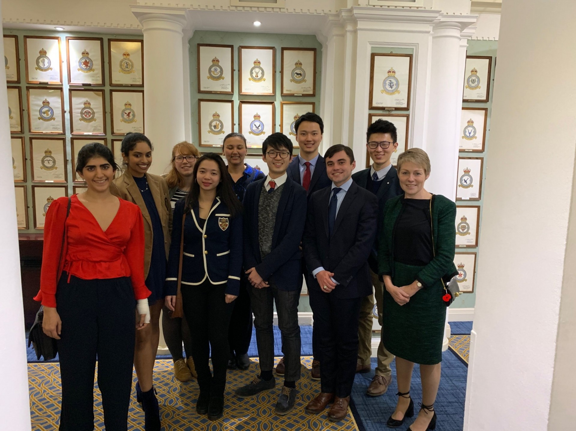CWAR Fellows and Professor Victoria Phillips at the Royal Air Force Club