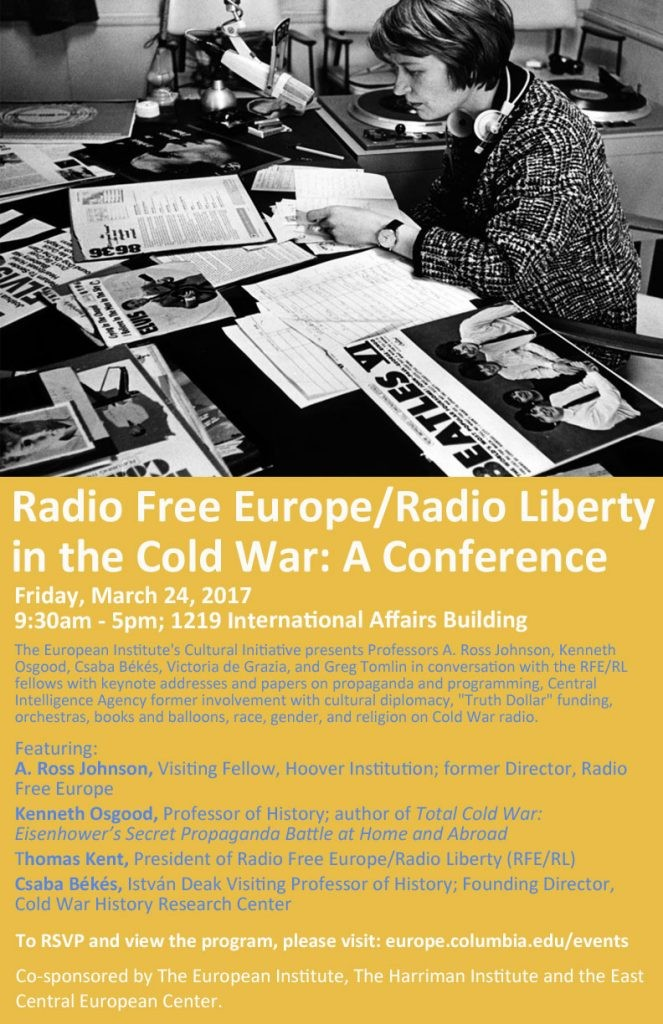 "Poster for conference ""Radio Free Europe/Radio Liberty in the Cold War"""